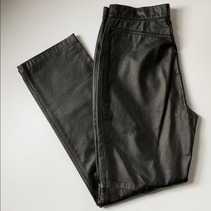 Lauren Ralph Lauren Leather Straight Leg Pants